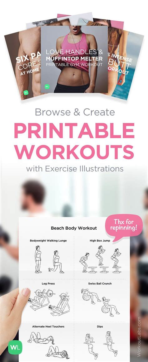 17 Best Images About Printable Workout Sheets On Pinterest Create Your Own Home Workout