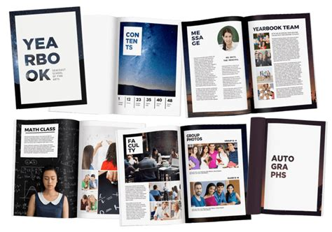 Free Yearbook Page Templates by Hundreds Of Free Yearbook Templates 100 Customizable