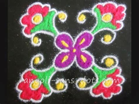 design flower kolam with dots small rangoli with dots kolam by sudha balaji