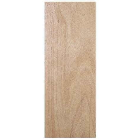 Solid Wood Exterior Door Slab Shop Jeld Wen Flush Solid Wood Lauan Unfinished Slab Entry Door Common 36 In X 80 In