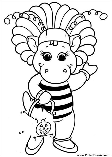 barney coloring pages games drawings to paint colour barney print design 033