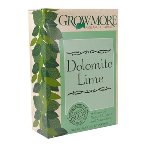 Dolomite Gardening by Growmore Grow More Dolomite Lime 4 Lb Hf Gr44120
