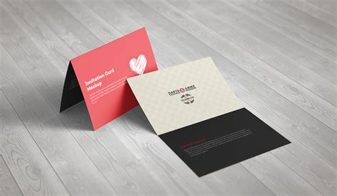 a5 greeting card template photoshop invitation greeting card a5 brochure mockup on behance