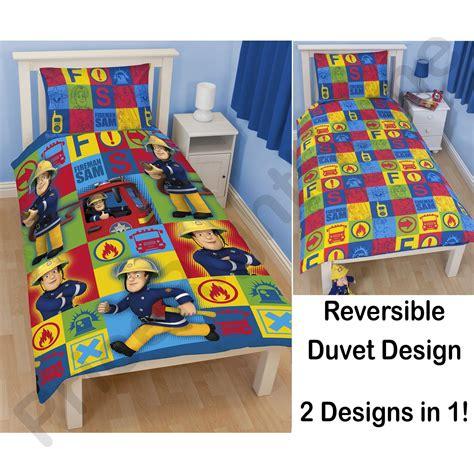 Fireman Sam Bedroom Furniture Fireman Sam Bedding Single Junior Duvet Cover Sets Boys Bedroom