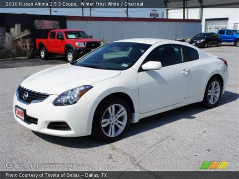 nissan altima white 2010 winter white 2010 nissan altima 2 5 s coupe