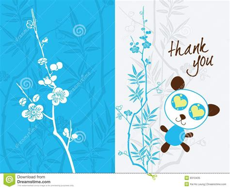 thank you card template 5 5 x 8 5 thank you card template stock vector image of pattern
