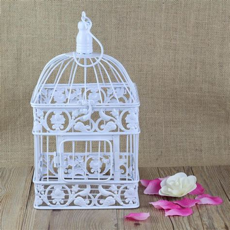 birdcage home decor square antique withe decorative birdcage metal bird cage