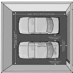 Size Of Two Car Garage by The Dimensions Of An One Car And A Two Car Garage