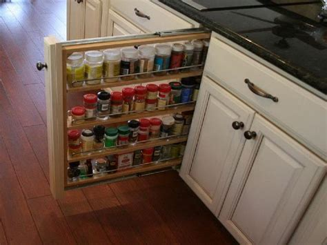 kitchen spice racks for cabinets bloombety cabinet pull out spice rack hardwood flooring