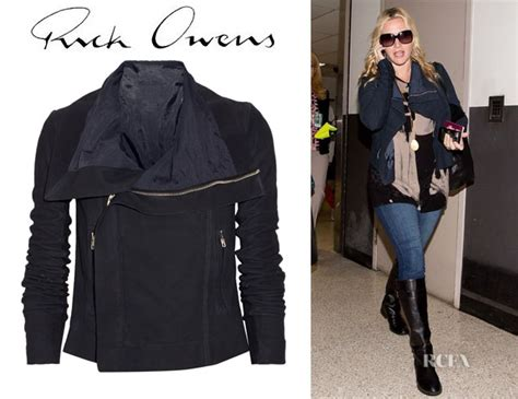 Who Wore It Better Rick Owens Biker Jacket by Kate Winslet S Rick Owens Blister Brushed Leather Biker