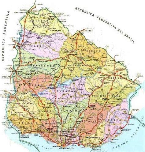 imagenes satelital del uruguay mapa pol 237 tico de uruguay blogitravel viajes y turismo