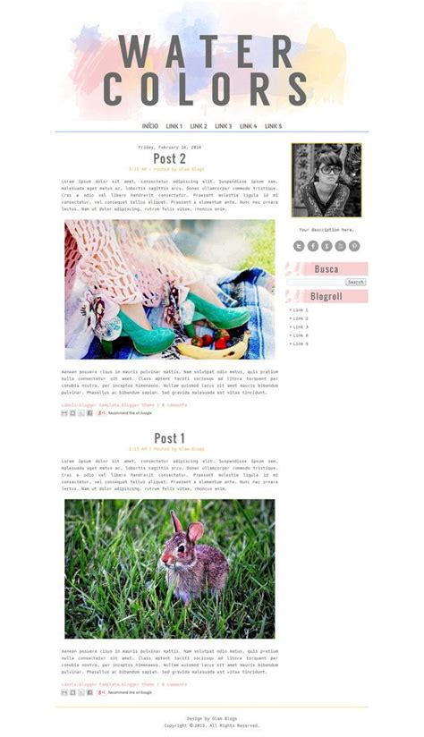 cute blog layout design 49 best blogging watercolors and watercolours images on