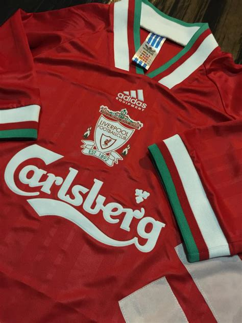 Jersey Grade Aaa Liverpool Home 9395 jual ready stock jersey retro grade aaa thailand liverpool home 1993 supplier jersey retro