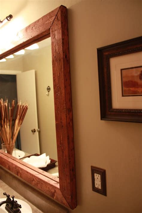 diy bathroom framed mirror for the home pinterest
