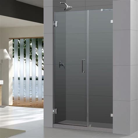Dreamline Unidoor Lux 44 In X 72 In Frameless Pivot 44 Shower Door