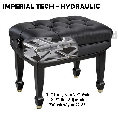 hydraulic piano bench sythetic leather made in spain by hidrau model hydraulic