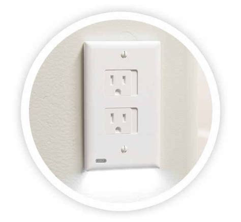 receptacle night light cover snappower releases safelight outlet cover night light