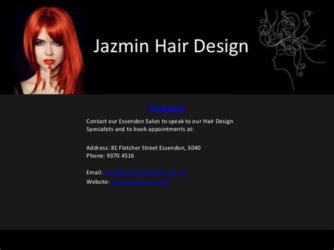 powerpoint design hair jazmin hair design hairdresser essendon