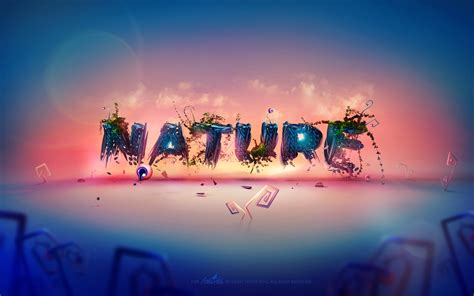 Nature Typography Wallpapers Hd Wallpapers