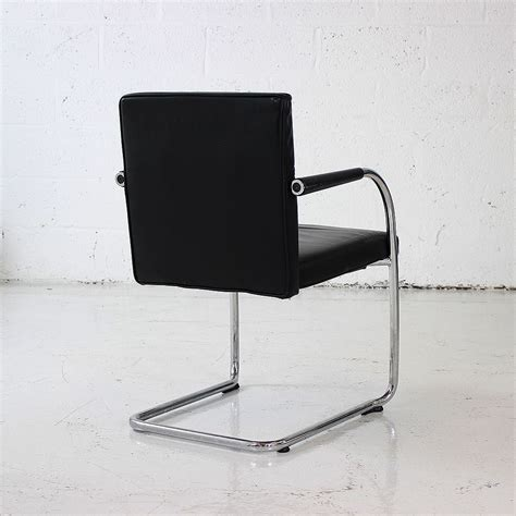 hire recliner chair vitra visasoft black leather meeting chairs black