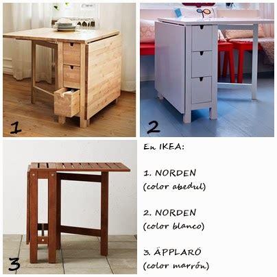 idea mesas plegables  abatibles  la cocina