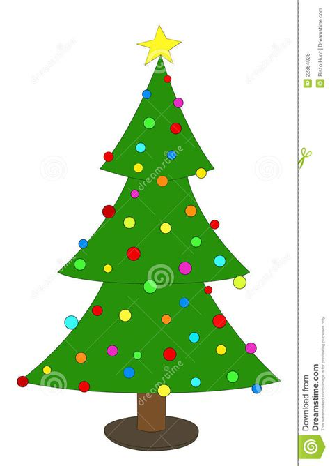 simple but beautiful christmas tree pictures simple decorated tree stock illustration image 22364028