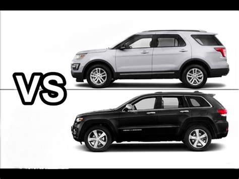 ford jeep 2017 2017 ford explorer xlt vs 2017 jeep grand drive