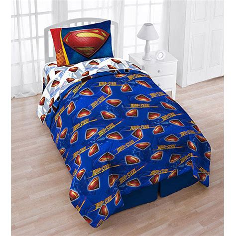 superhero bed sheets superman twin bedding tote bag set 5pc dc comics