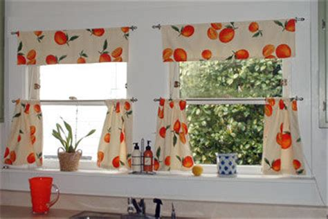 kitchen curtains in vintage fabric curtains beth made