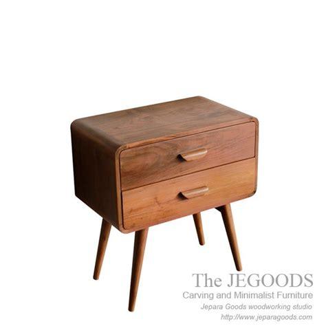 meja nightstand nakas 187 yuyu drawer retro scandinavian furniture jepara teak