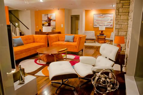 Orange Sofa Interior Design by 124 Great Living Room Ideas And Designs Photo Gallery