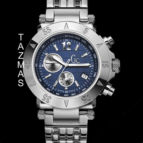 Guess Collection Gc68334 Blue Ceramic Ladiez 100 authentic guess collection chrono g44502g1