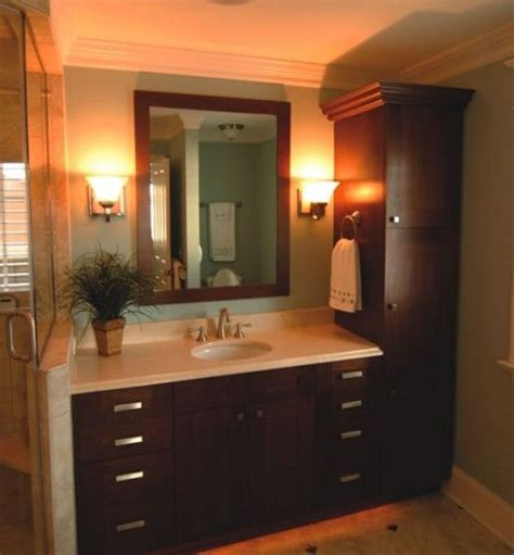 linen closet with vanity home pinterest 17 best ideas about tall bathroom cabinets on pinterest