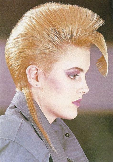 rat tail hairstyle women structured mohawk effect with a rat tail 1980s hair