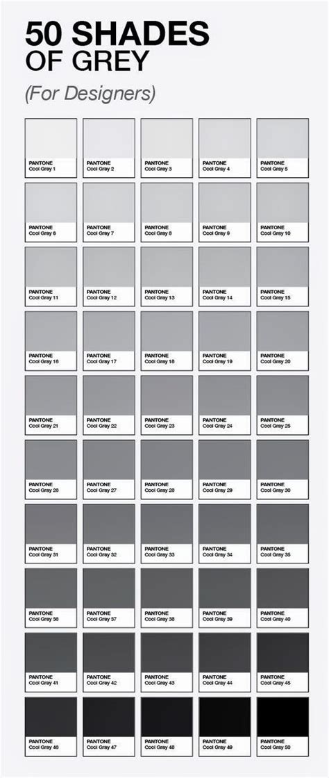 shades of grey colors 50 shades of grey for designers by pantone funny