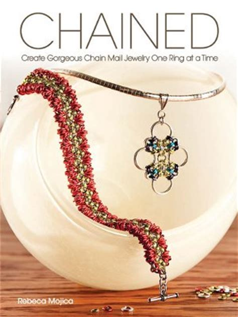 free jewelry books chained create gorgeous chain mail jewelry one ring at a