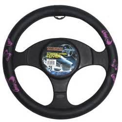 Car Steering Wheel Covers Pink Black Butterfly Design Car Steering Wheel Cover 15
