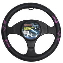 Steering Wheel Car Covers Pink Black Butterfly Design Car Steering Wheel Cover 15
