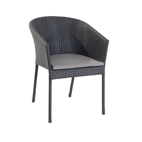 mimosa silverleaves resin wicker dining chair bunnings