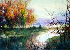 Landscape Artists Watercolor Watercolor Paintings Zlfeng 1 Preview