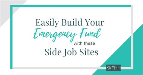 side jobs 9 side job sites to build your emergency fund work from
