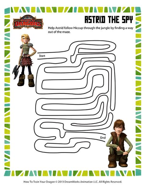 printable dragon mazes astrid the spy view printable mazes worksheets for kids