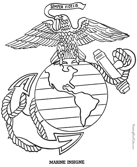 patriotic symbols marine insigne drawing to print 018