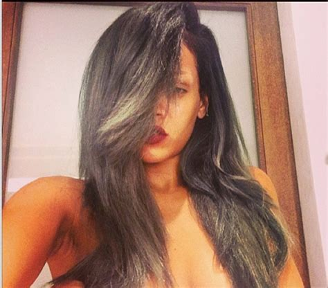 rihanna hair color rihanna s new gray hair color the style news network
