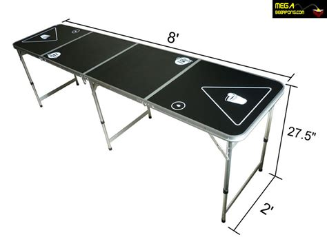 pong table dimensions mega pong