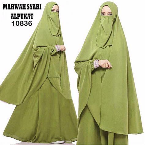 Baju Muslim Gamis Syari Hijau gamis syari terbaru marwah hijau fg model baju gamis terbaru