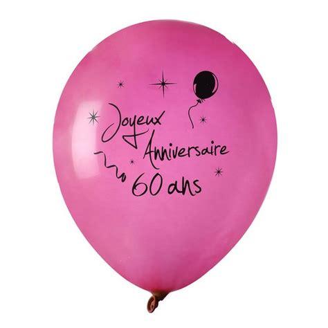 Dã Coration Table Anniversaire 60 Ans Achat Ballon Joyeux Anniversaire Fuschia 60 Ans X 8