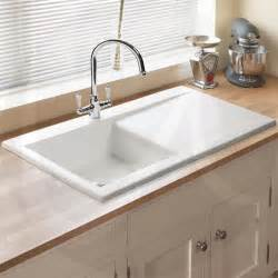 Ceramic Kitchen Sinks Astini Desire 100 1 0 Bowl Gloss White Ceramic Kitchen Sink Waste Tap Preview Kitchen Ideas