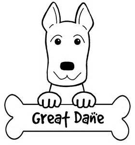 great dane coloring sheets coloring pages