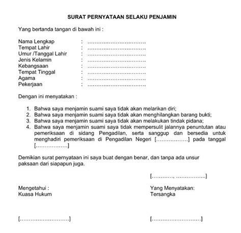 Contoh Surat Pernyataan Cpns by Contoh Surat Pernyataan Yang Sah Secara Hukum Lowongan